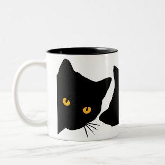 3匹の猫のマグ ツートーンマグカップ