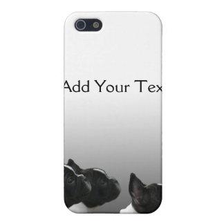 3匹の白黒フレンチ・ブルドッグ iPhone 5 COVER
