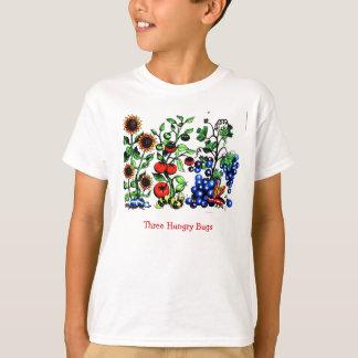 3匹の空腹な虫 Tシャツ