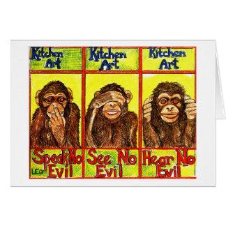 3匹の賢い猿 カード