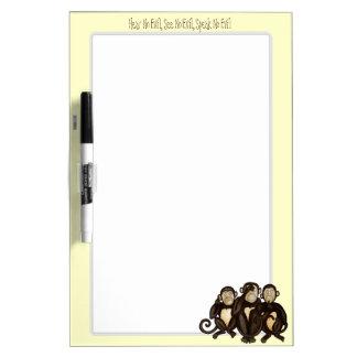 3匹の賢い猿 ホワイトボード