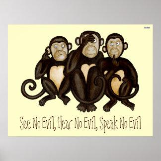 3匹の賢い猿 ポスター
