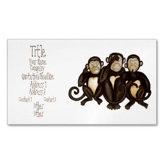 3匹の賢い猿 マグネット名刺