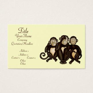 3匹の賢い猿 名刺