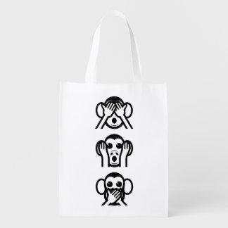 3匹の賢い猿Emoji エコバッグ