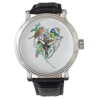 3匹の野鳥観察 腕時計