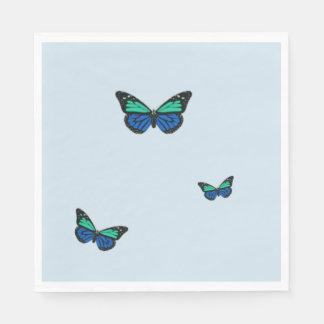 3匹の青い蝶 スタンダードランチョンナプキン