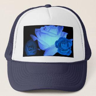 3匹の青の青いバラショー キャップ