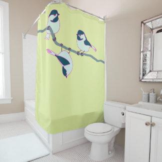 3匹の《鳥》アメリカゴガラ シャワーカーテン