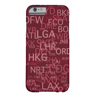 3手紙空港は赤をコードします iPhone 6 ベアリーゼアケース