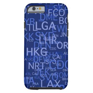 3手紙空港は青をコードします iPhone 6 タフケース