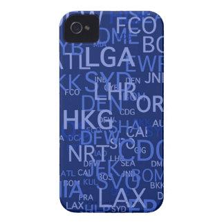 3手紙空港は青をコードします Case-Mate iPhone 4 ケース