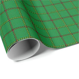 3月のスコットランドのタータンチェック格子縞の種族 ラッピングペーパー