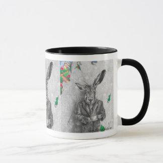 3月のノウサギのマグの3月のノウサギの芸術の不思議の国のマグ マグカップ