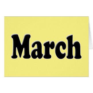 3月の文字 カード