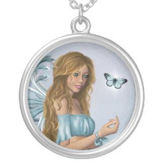 3月Birthstoneの妖精 シルバープレートネックレス