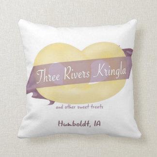 3本の川のKringlaの装飾用クッション クッション