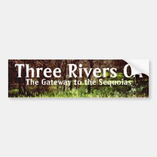 3本の川カリフォルニアカリフォルニアバンパーステッカーの芸術 バンパーステッカー