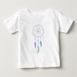 3本の羽が付いている水彩画Dreamcatcher ベビーTシャツ