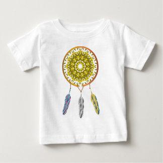 3本の羽とのDreamcatcher ベビーTシャツ