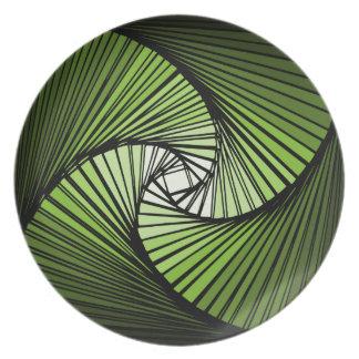 3次元スパイラルグリーン プレート