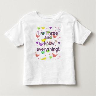 3歳児はそれをすべて知っています トドラーTシャツ