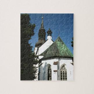 3段になった旧世界教会、風化させた銅 ジグソーパズル
