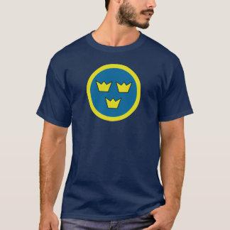 3王冠のスウェーデン人の記章 Tシャツ