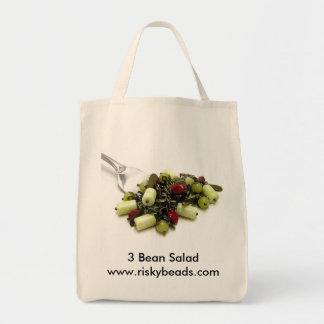 3粒の豆サラダ トートバッグ