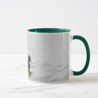 3羽のマガモのアヒルのコーヒー・マグ マグカップ