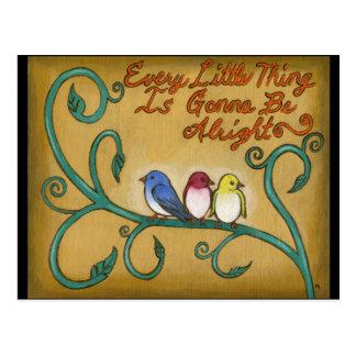 3羽の小さい鳥 ポストカード