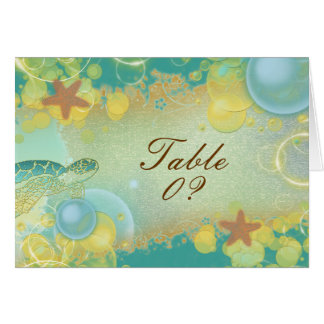 3配置をつけるビーチ結婚式のテーマの~のテーブル カード