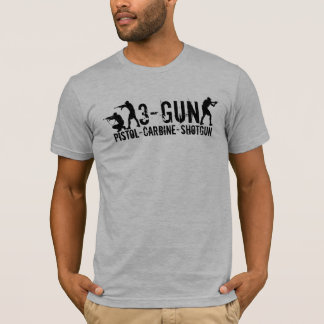 3銃-ピストル-カービン銃-散弾銃 Tシャツ