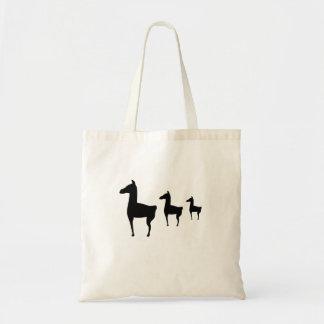 3頭のラマのバッグ トートバッグ