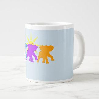 3頭の幸せな象 ジャンボコーヒーマグカップ