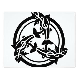 3頭の種族のイルカ カード