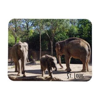 3頭の象 マグネット