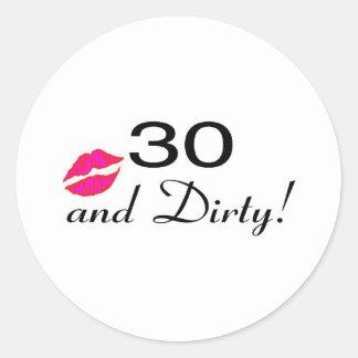 30そして汚れた唇 ラウンドシール