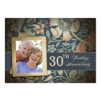 30の写真の結婚記念日 12.7 X 17.8 インビテーションカード