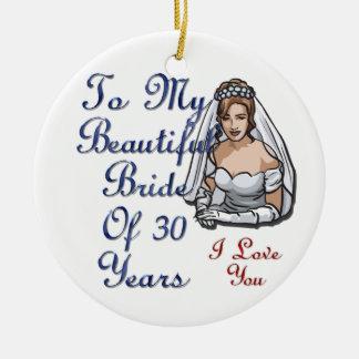 30年の花嫁 セラミックオーナメント