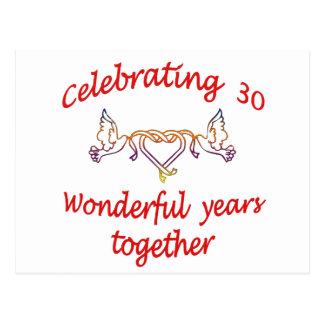 30年を祝うこと ポストカード