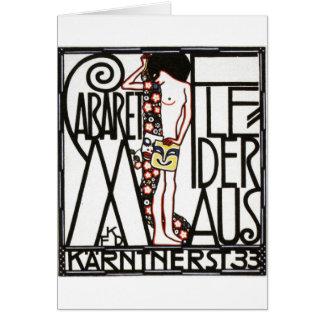 30年代のオーストリアのキャバレーポスター カード