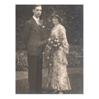 30年代の新郎新婦の写真 ポストカード