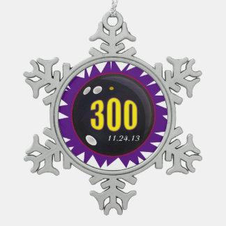 300完全試合の紫色 スノーフレークピューターオーナメント