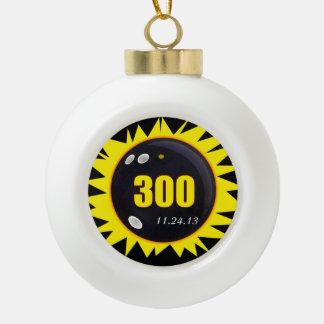 300完全試合の黄色 セラミックボールオーナメント
