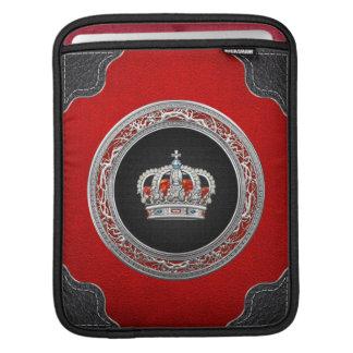 [300]王子プリンセスの王女王の王冠[銀] iPadスリーブ