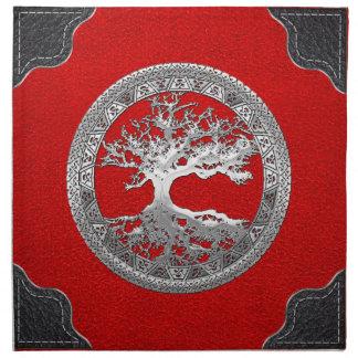 [300] [銀]ケルト族の生命の樹 ナプキンクロス