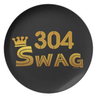 304市外局番のスワッグ プレート