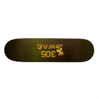 305市外局番のスワッグ 21.6CM スケートボードデッキ
