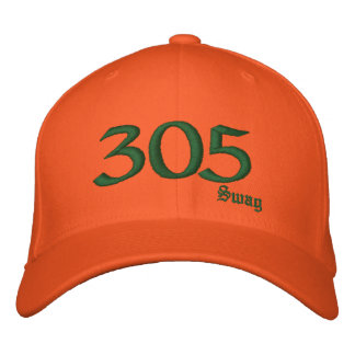 305 Rep 刺繍入りキャップ